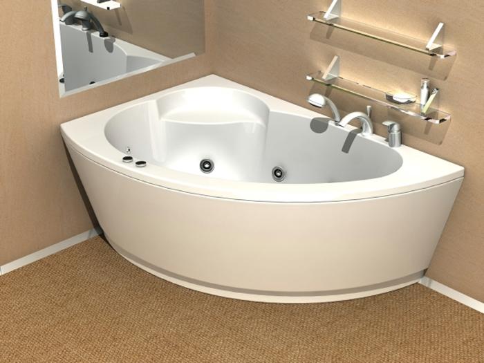 Экран на ассиметричную ванну